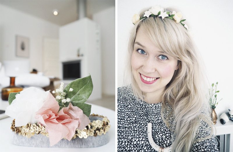 DIY flower baby headband
