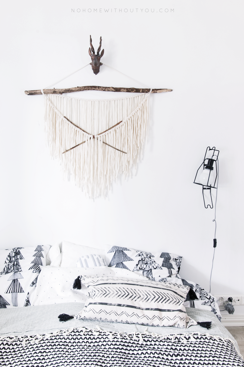 diy aztec wall hanging 5 No home without you
