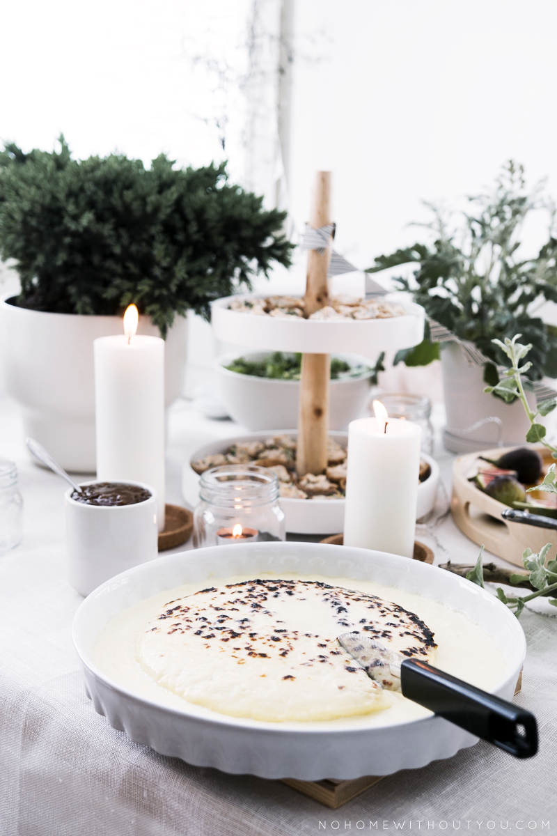 traditional finnish cheese dessert with cloudberry jam