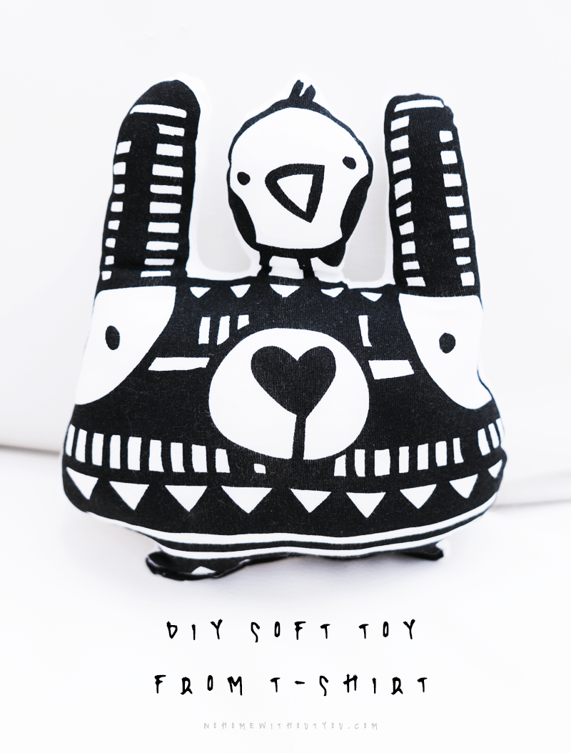 DIY soft toy from T-shirt_3