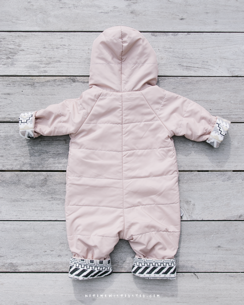 No Home Without You DIY baby winter overall jump suit 1