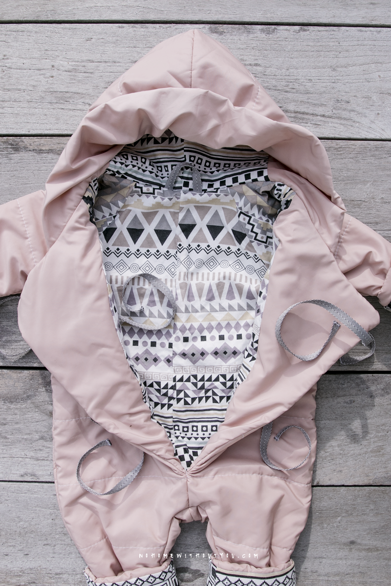 No Home Without You DIY baby winter overall jump suit 2