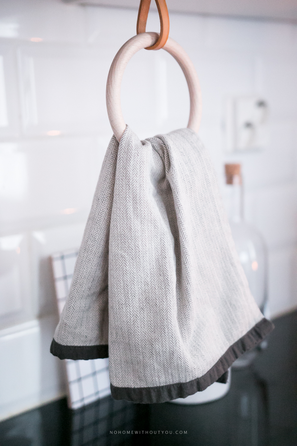 DIY kitchen towel hanger - No Home Without You blog (1 of 3)