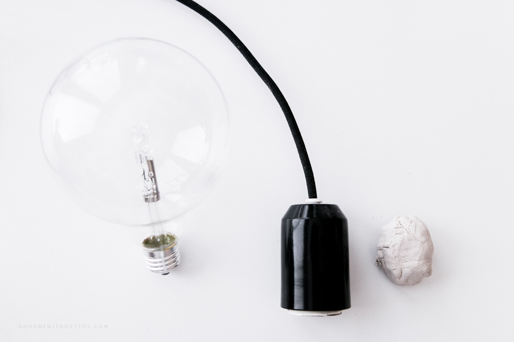 DIY white clay pendant light No home without you blog (1 of 5)