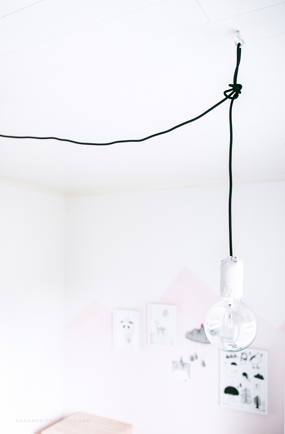DIY white clay pendant light No home without you blog 2 (2 of 5)-3