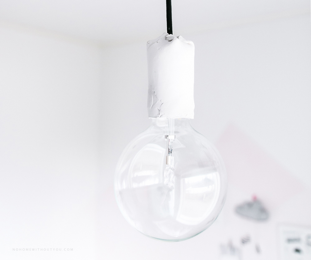 DIY white clay pendant light No home without you blog 2 (4 of 5)-3
