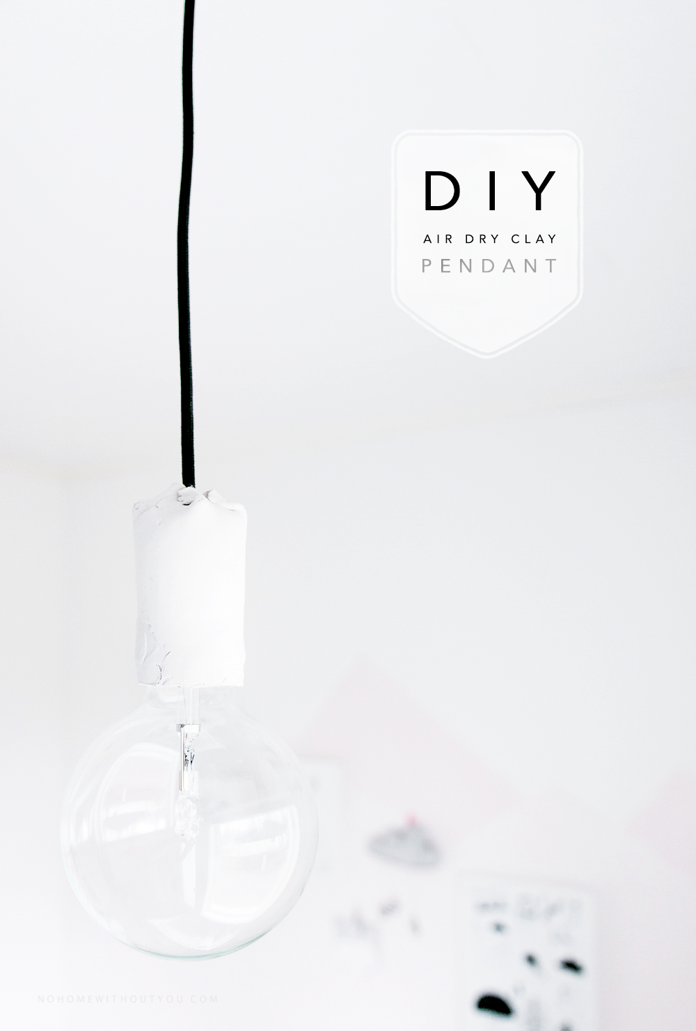 DIY white clay pendant light No home without you blog (3 of 5)