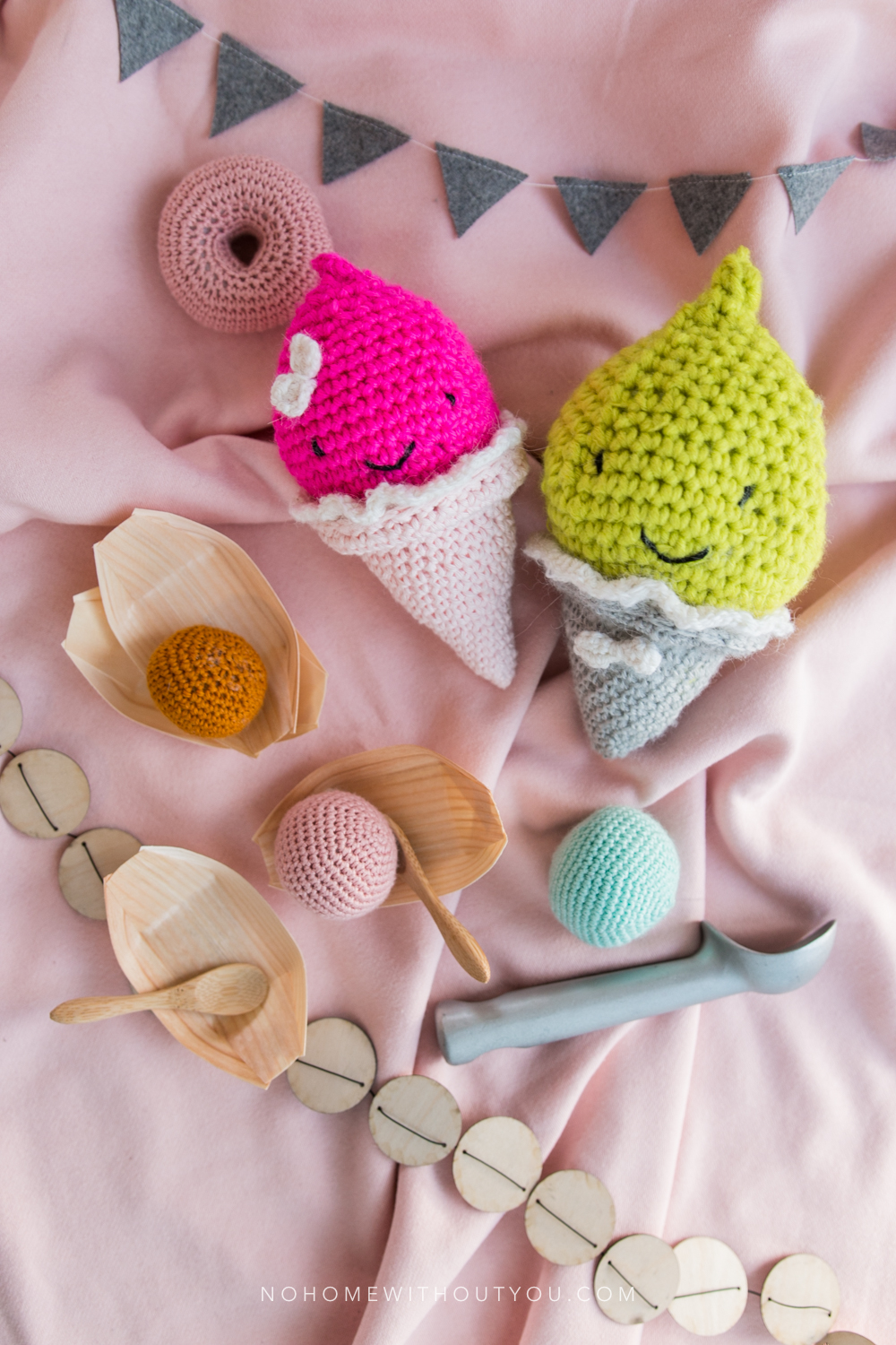 Ice Cream Party - Free amigurumi crochet pattern - No Home Without You blog (6 of 10)