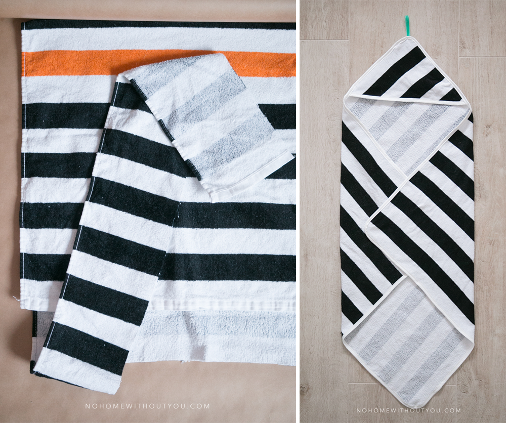 DIY hooded baby towel No Home Without You