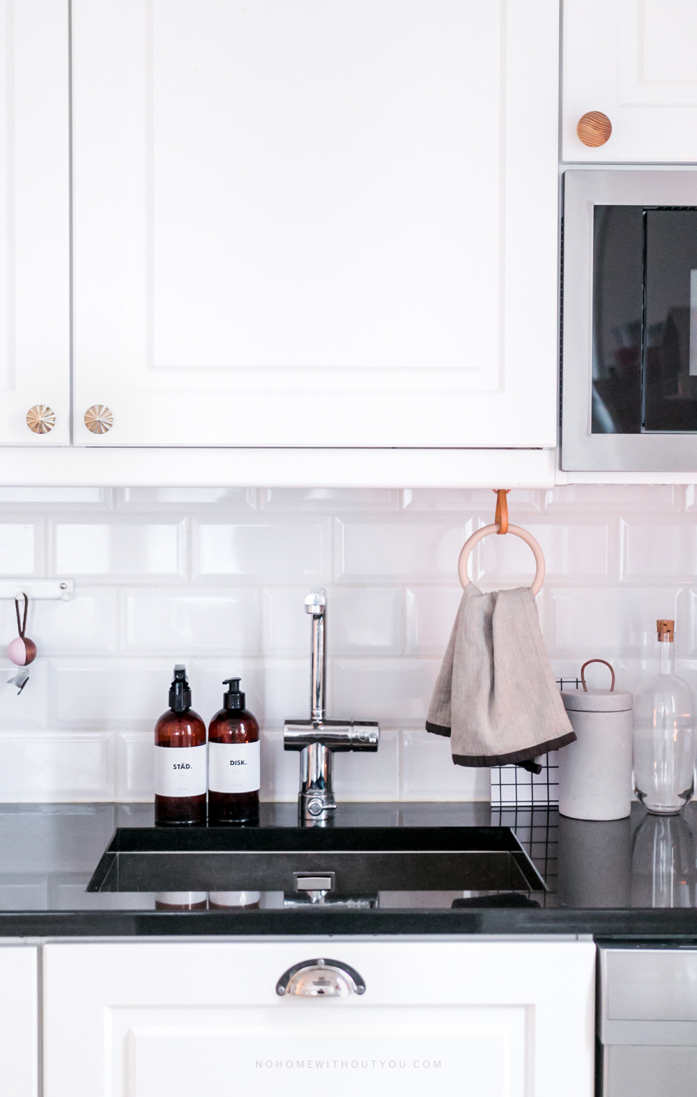 DIY kitchen towel hanger - No Home Without You blog (3 of 3)