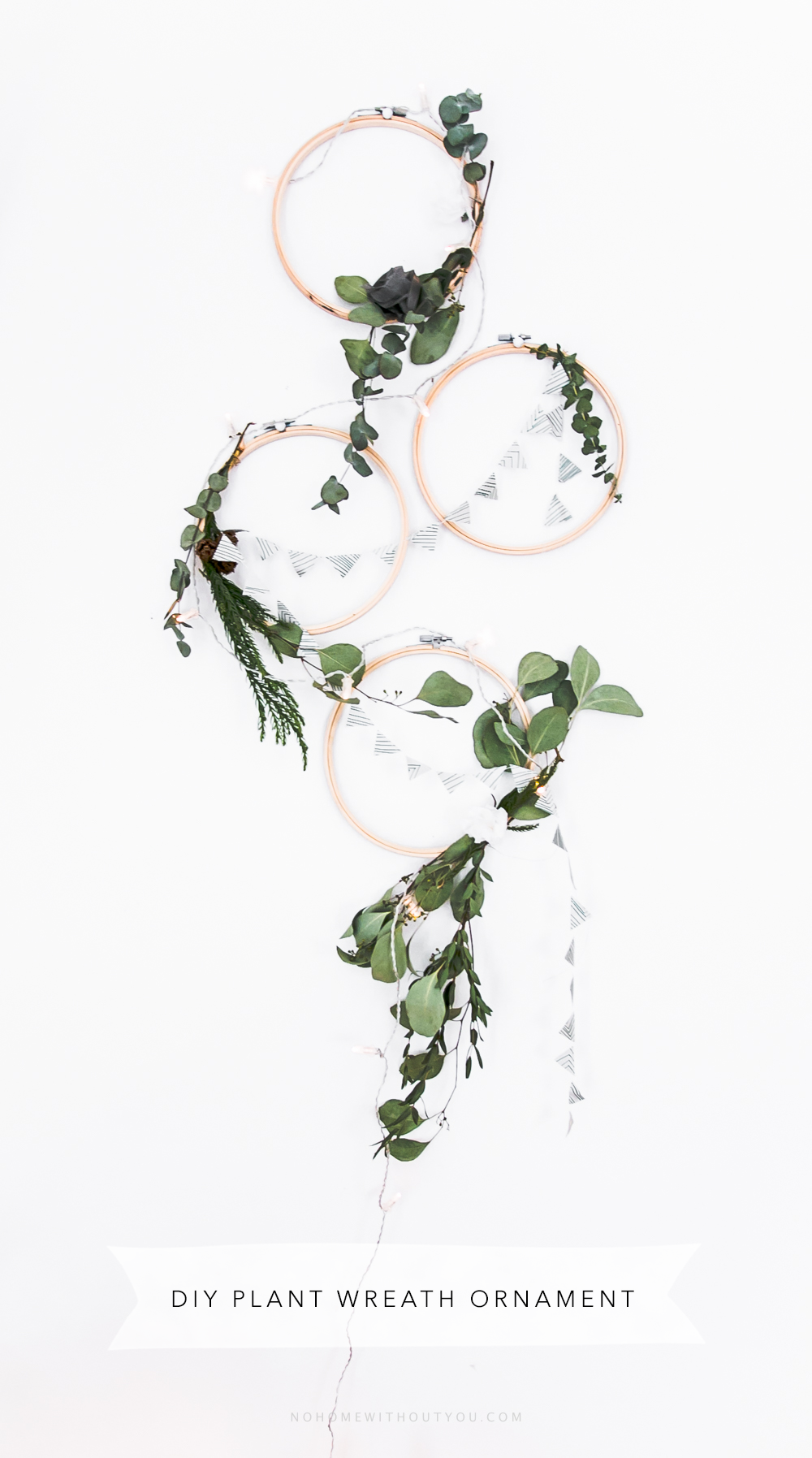 DIY plant wreath eucalyptus coniferous No Home Without You (12 of 12)