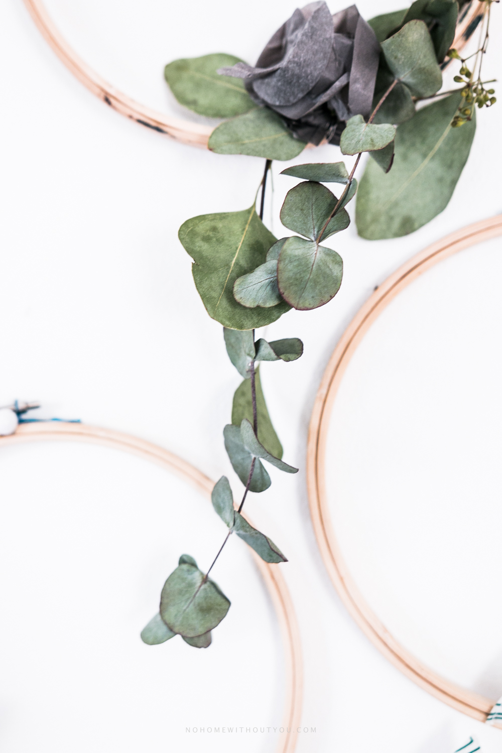 DIY plant wreath eucalyptus coniferous No Home Without You (3 of 12)