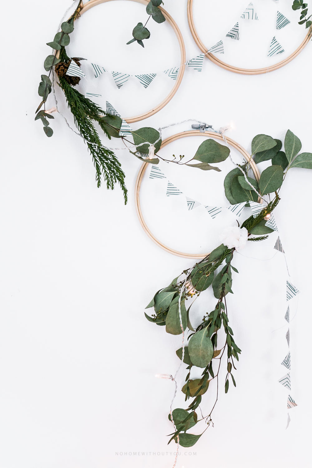 DIY plant wreath eucalyptus coniferous No Home Without You (4 of 12)