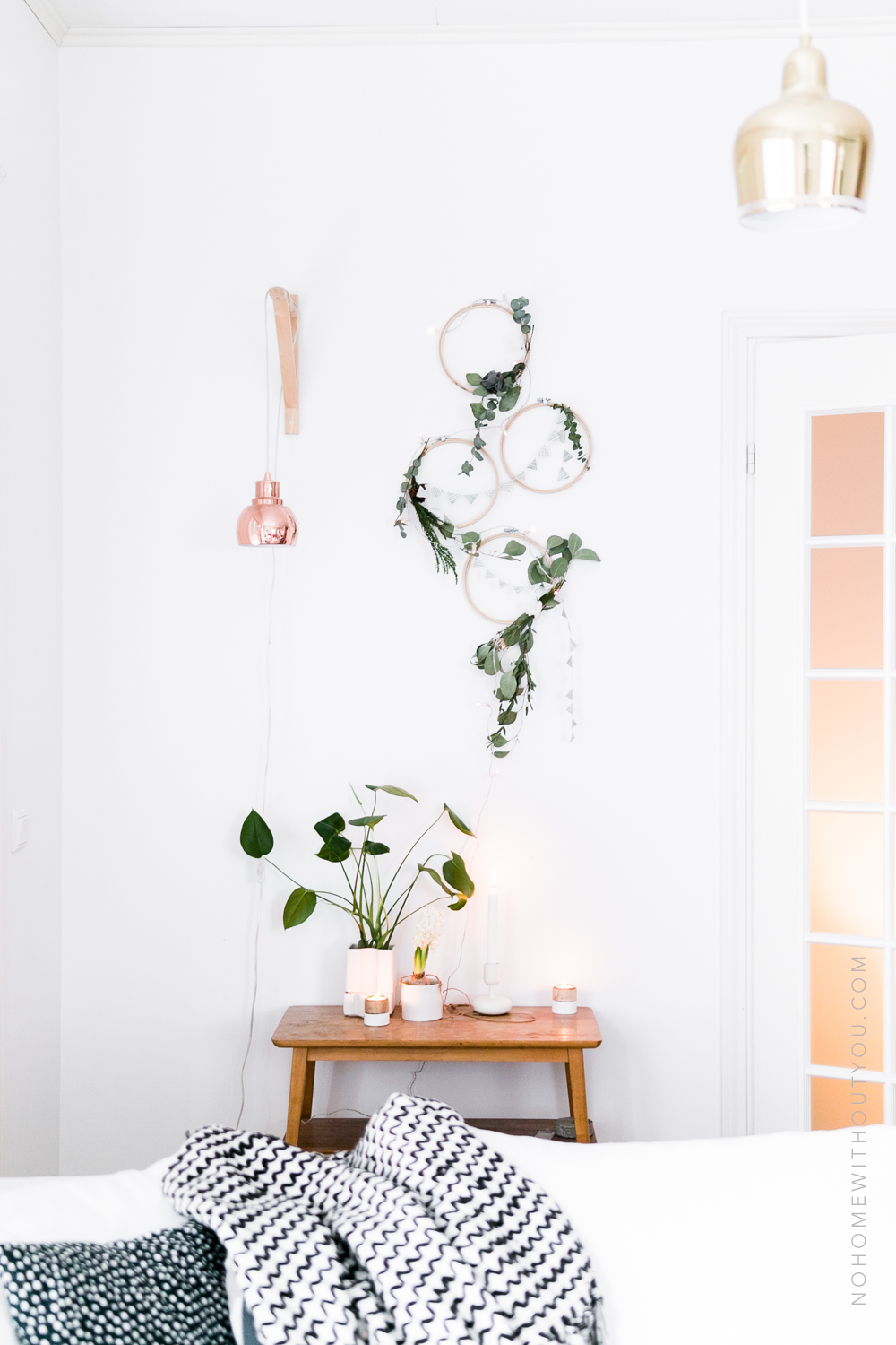 DIY plant wreath eucalyptus coniferous No Home Without You (4 of 8)-2