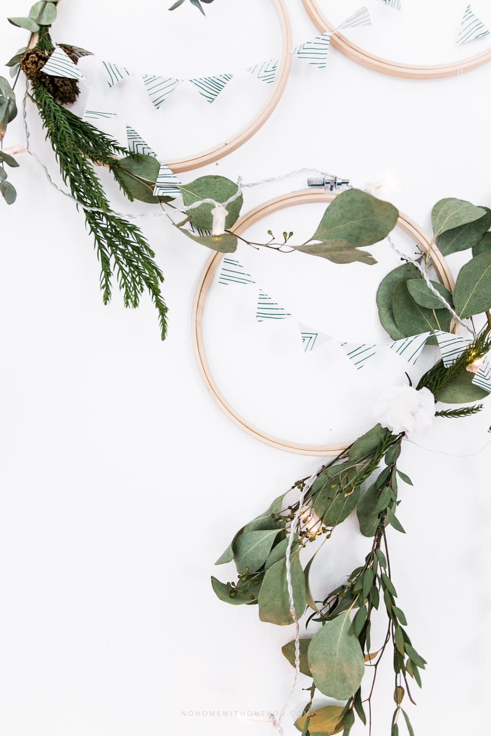 DIY plant wreath eucalyptus coniferous No Home Without You (9 of 12)