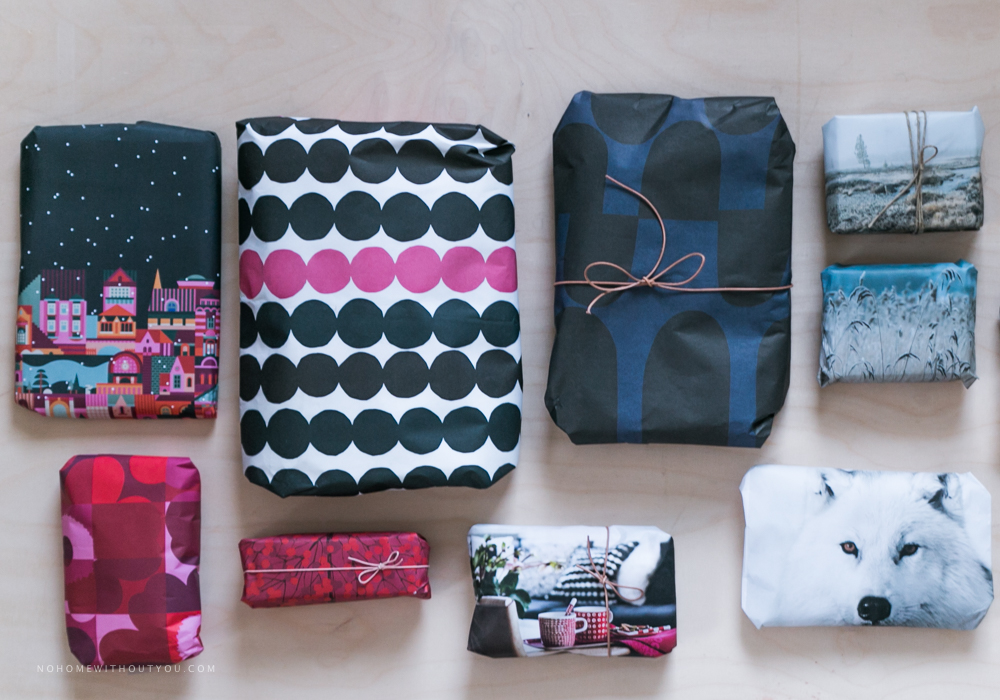 Recycled gift wrapping  (1 of 1)