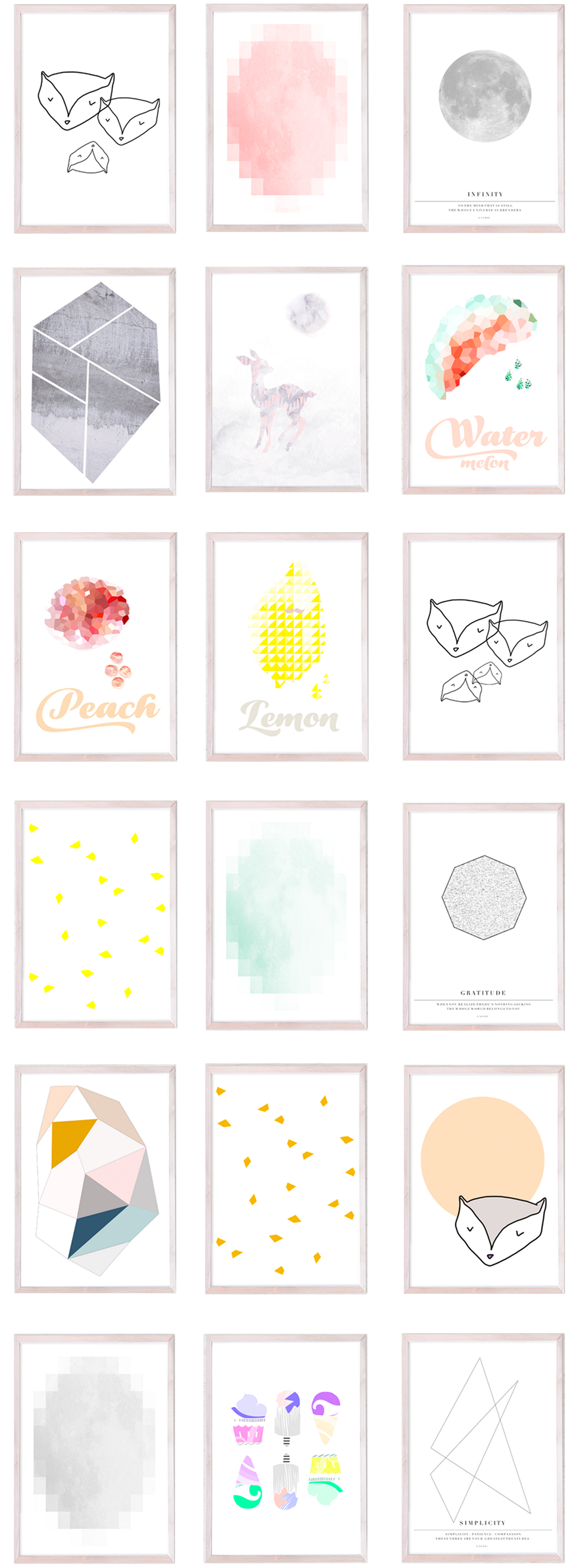 kaunis decoration prints